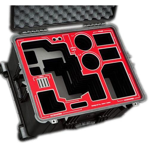 Jason Cases Hard Case with Custom Foam for Blackmagic Design URSA Mini & Bottomplate (Red Overlay)