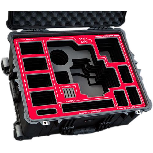 Jason Cases Hard Travel Case for Blackmagic URSA Mini Kit (Red Overlay)