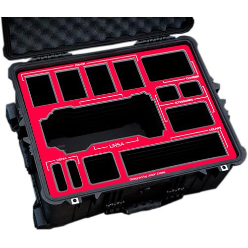 Jason Cases Hard Travel Case for Blackmagic URSA Kit (Red Overlay)
