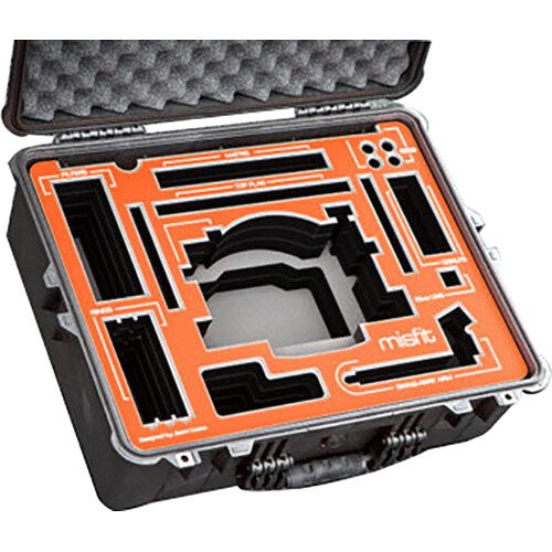Jason Cases Hard Case for Bright Tangerine Misfit Matte Box with Side Flags