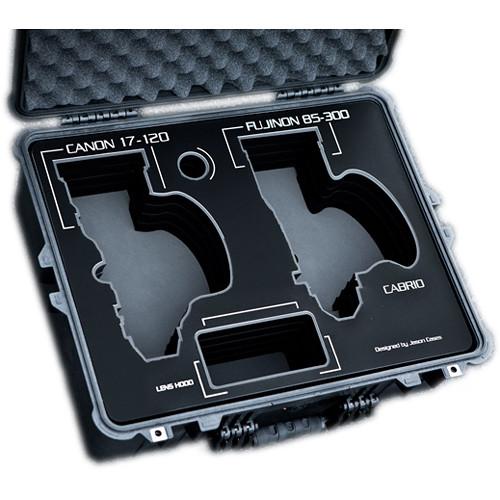 Jason Cases Protective Case for Canon 17-120mm & Fujinon 85-300mm Lenses (Black Overlay)