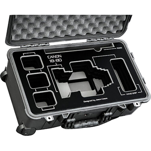 Jason Cases Canon 18-80mm Lens Case with Black Overlay