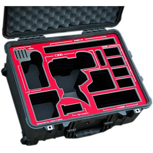 Jason Cases Hard Travel Case for Canon C300 Mark II Camera (Red Overlay)