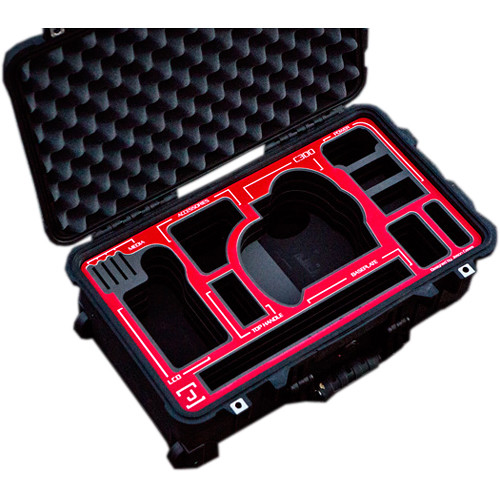 Jason Cases Hard Travel Case for Canon C300 Camera (Red Overlay)