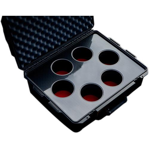 Jason Cases Hard Case with Custom Foam for Set of Six Canon CN-E Lenses