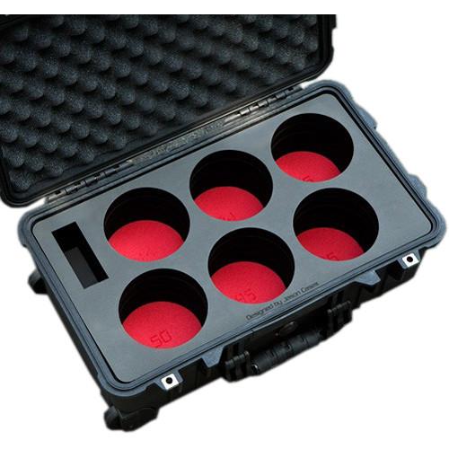 Jason Cases Compact Wheeled Hard Case with Custom Foam for Six Canon CN-E Lenses
