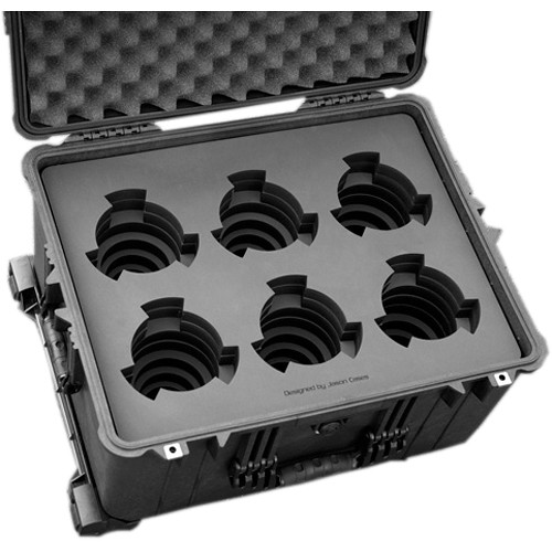 Jason Cases Protective Case for 6 Cooke S4 Prime Lenses