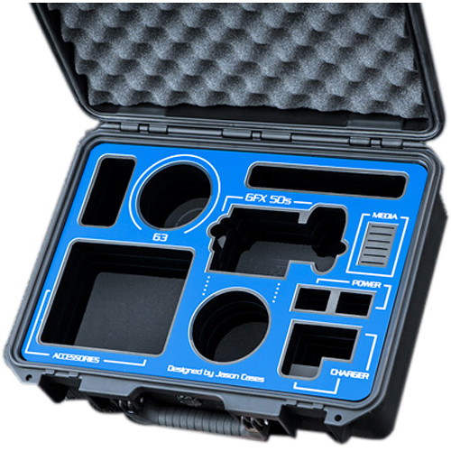 Jason Cases Fujifilm GFX 50S Case (Black with Blue Overlay)
