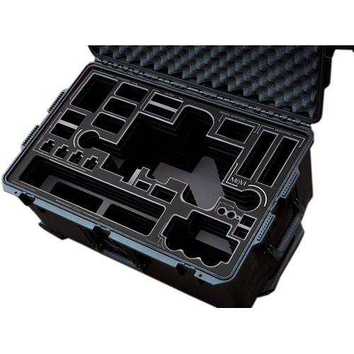 Jason Cases Protective Pelican Case for Freefly MoVI M10 Gimbal Stabilizer (Black Overlay)