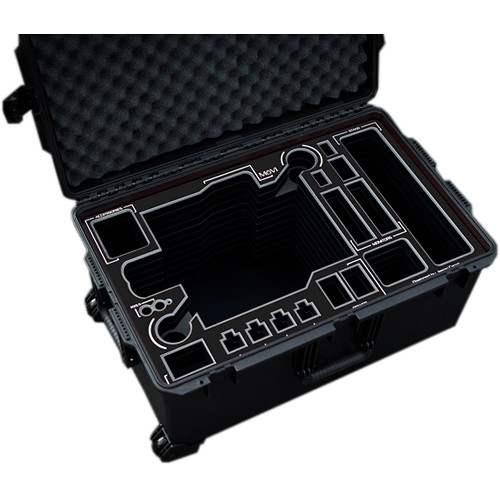 Jason Cases Protective Pelican Case for Freefly MoVI M15 Gimbal Stabilizer Without Toad-in-the-Hole (Black Overlay)