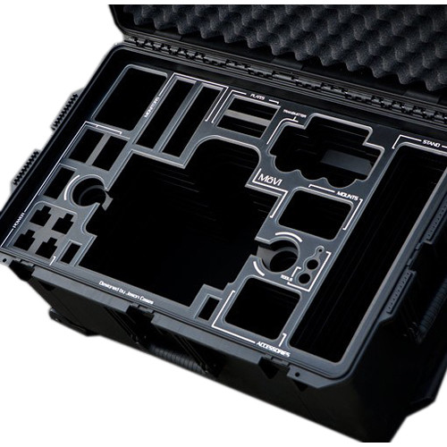 Jason Cases Pelican Case with Laser-Cut Foam for MOVI M5 Gimbal Stabilizer and Accessories (Black Overlay)