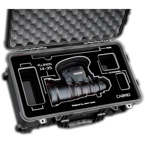 Jason Cases Protective Case for Fujinon 14-35mm T2.9 Cabrio Lens (Black Overlay)