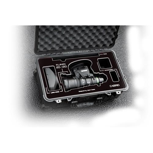 Jason Cases Protective Case for Fujinon 20-120mm T3.5 Cabrio Lens (Black Overlay)