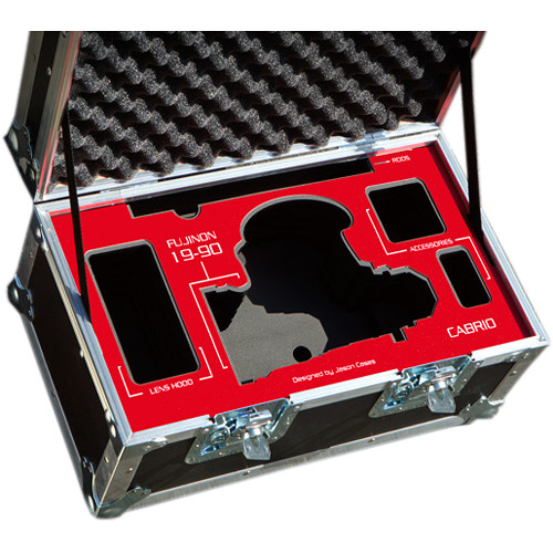 Jason Cases Protective Case for Fujinon 85-300mm T2.9 Cabrio Hard Lens (Red Overlay)