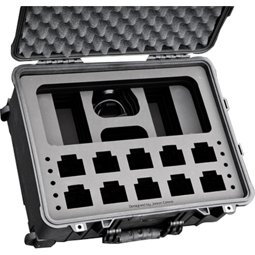 Jason Cases Case for Ten Motorola CP200D Radios with Antennas & 6-Position Multi-Unit Charger