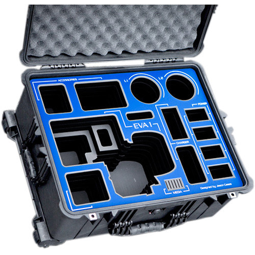 Jason Cases Hard Travel Case for Panasonic AU-EVA1 Camera (Blue Overlay)