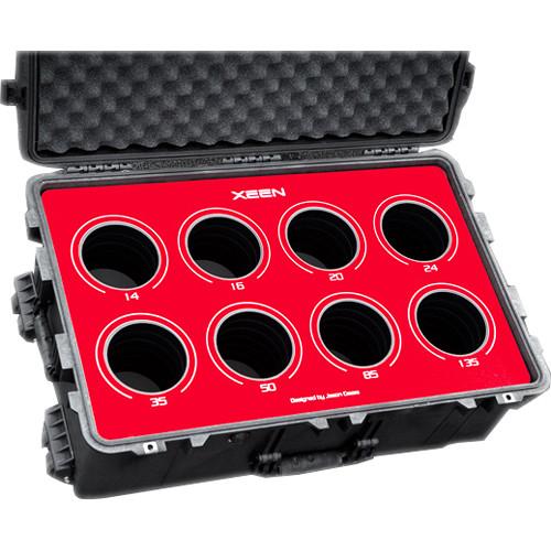 Jason Cases Protective Case for Rokinon Xeen 8-Lens Bundle (Red Overlay)