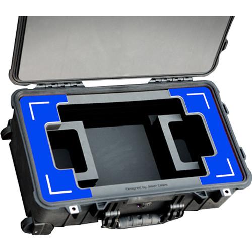 "Jason Cases Hard Case with Custom Foam for SmallHD 1303 13"" Monitor (Blue Overlay)"