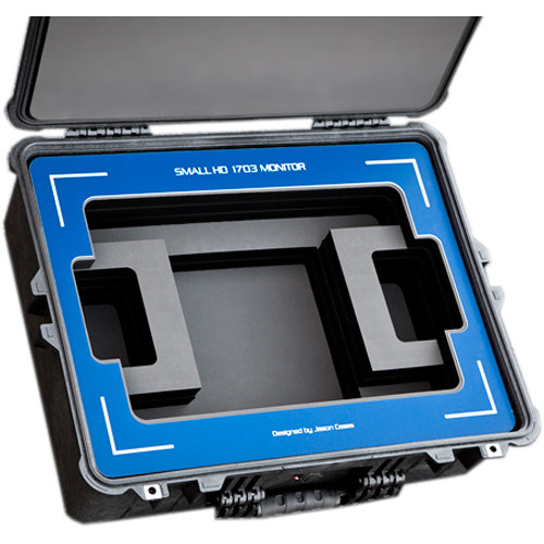 "Jason Cases Protective Case for SmallHD 1703 17"" HDR Monitor (Blue Overlay)"