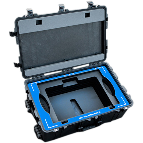 Jason Cases Hard Travel Case for Sony A250 Monitor (Blue Overlay)