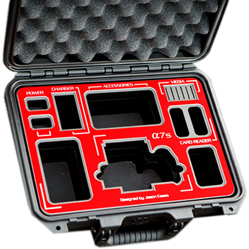 Jason Cases Protective Case for Sony a7S Camera (Red Overlay)