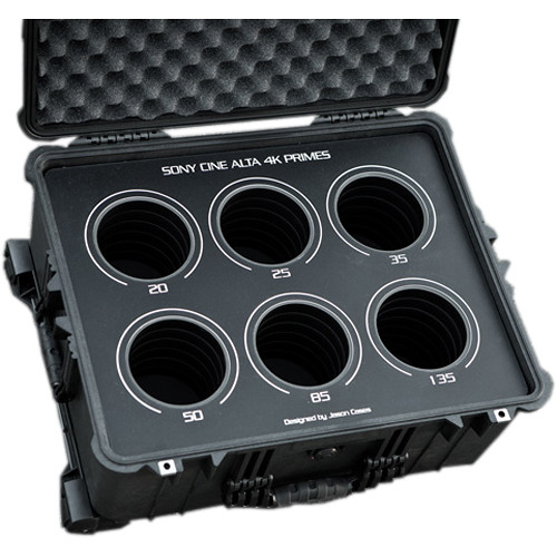 Jason Cases 6-Lens Protective Case for Sony CineAlta 4K Primes