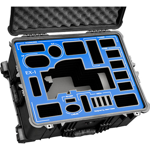 Jason Cases Custom Hard Case for Sony PMW-EX1 (Blue Overlay)