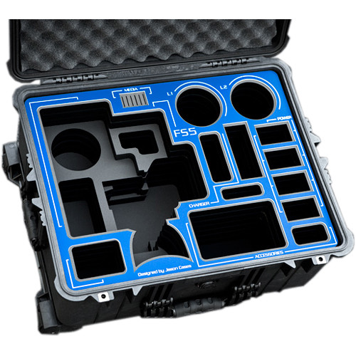 Jason Cases Hard Case with Wheels for Sony FS5 Camera Kit (Blue Overlay)