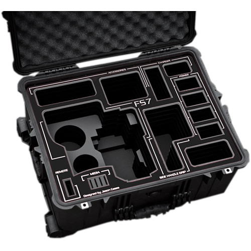 Jason Cases Hard Rolling Case for Sony FS7 Camera (Black Overlay)