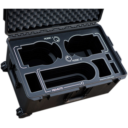 Jason Cases Hard Rolling Case for Sony BRC-H900 Robotic Cameras (Black Overlay)