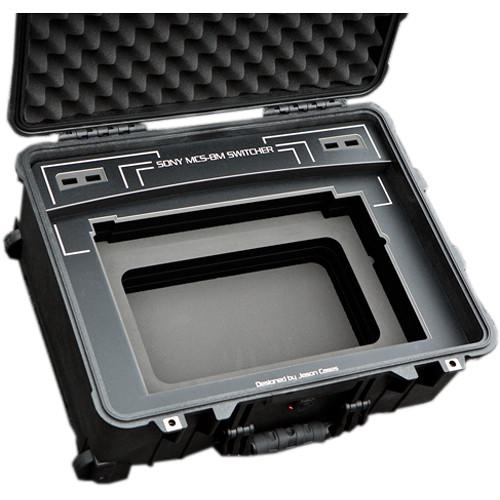 Jason Cases Hard Travel Case for Sony MCS-8M Switcher (Black Overlay)