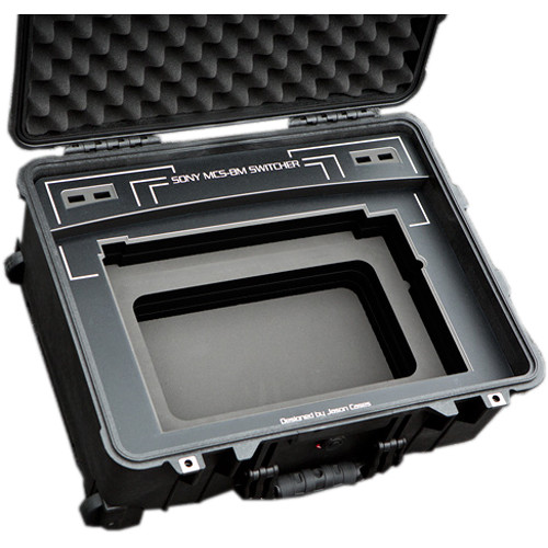Jason Cases Hard Travel Case for Sony MCS-8M Switcher (Black Overlay)
