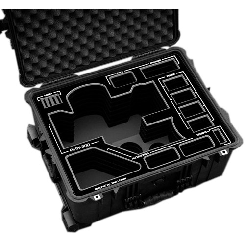Jason Cases Hard Case for Sony PMW-300 Camera Kit (Black Overlay)