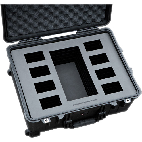 Jason Cases Wheeled Case with Foam for SWIT S-8160S Battery Kit (Black)