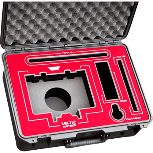 Jason Cases Custom Hard Case for Tilta MB-T12 Matte Box (Red Overlay)