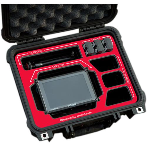 "Jason Cases Hard Case for TVLogic 5.6"" Monitor Kit (Red Overlay)"