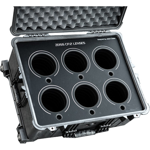 Jason Cases Protective Case for Set of 6 Zeiss CP.2 Lenses (Black Overlay)