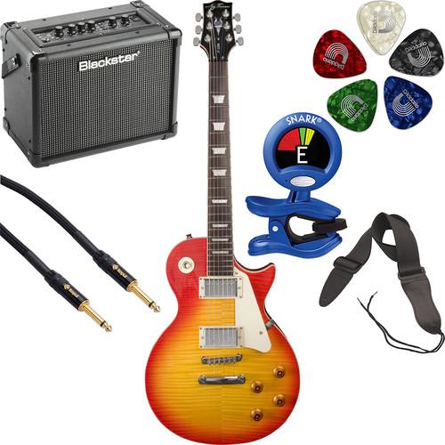 Jay Turser JT-220D 200 Series Electric Guitar & Amp Starter Kit (Cherry Sunburst)