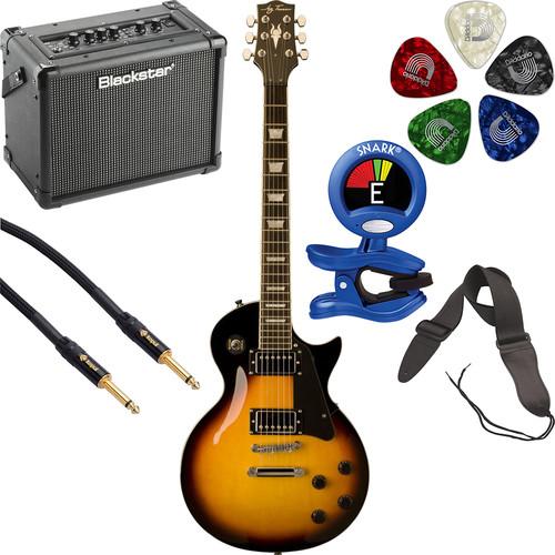 Jay Turser JT-220 200 Series Electric Guitar & Amp Starter Kit (Vintage Sunburst)
