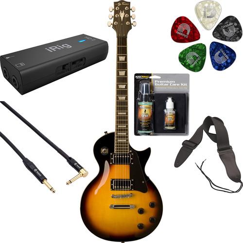 Jay Turser JT-220 200 Series Electric Guitar Starter Recording Kit (Vintage Sunburst)