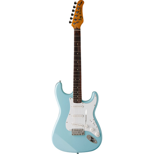Jay Turser JT-300 300 Series Electric Guitar & Amp Starter Kit (Daphne Blue)
