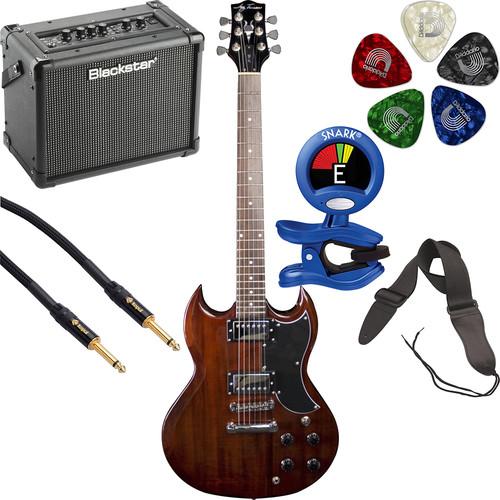 Jay Turser JT-50 50 Series Electric Guitar Starter Kit (Walnut)