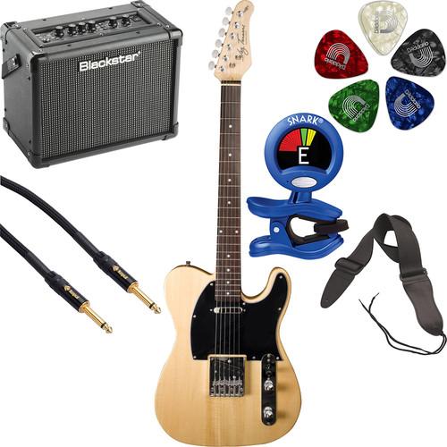 Jay Turser JT-LT LT Series Electric Guitar & Amp Starter Kit (Natural)