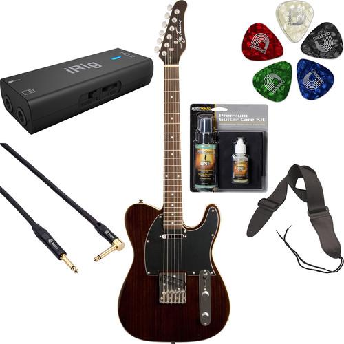 Jay Turser JT-LT-RW LT Series Electric Guitar Starter Recording Kit (Rosewood)