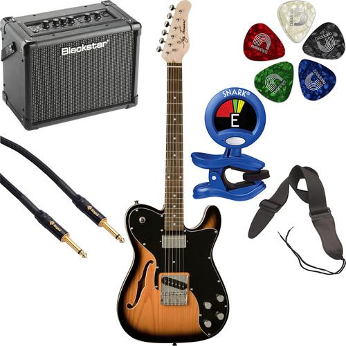 Jay Turser JT-LTCUSTOM69 LT Series Electric Guitar & Amp Starter Kit (Tobacco Sunburst)
