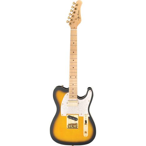 Jay Turser JT-LTCUSTOMDLX LT Series Electric Guitar Starter Recording Kit (Antique Natural Sunburst)