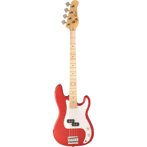 Jay Turser JTB-400M P-Style Electric Bass Guitar (Candy Apple Red)