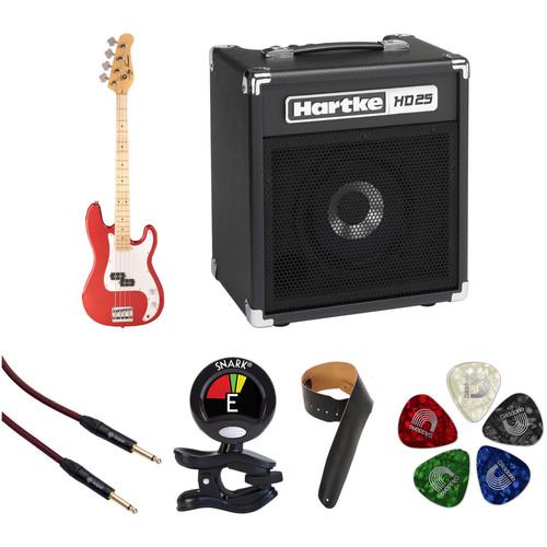 Jay Turser JTB-400M P-Style Electric Bass Guitar Starter Kit