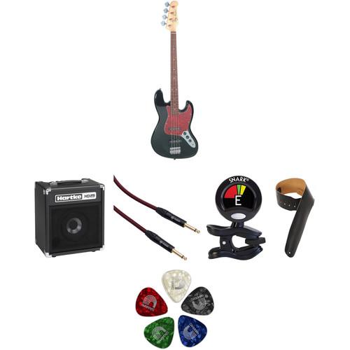 Jay Turser JTB-402 J-Style Electric Bass Guitar Starter Kit