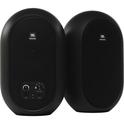 JBL 1 Series 104-BT Compact Powered Desktop Reference Monitors with Bluetooth (Black Matte)